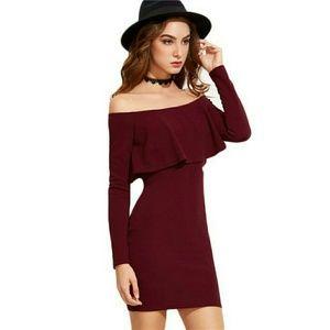 Cindy Long Sleeve Ruffle Dress